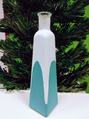 Vaza/sticla decor pictata - 30lei (h-17cm)